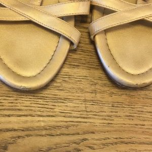 J. Crew Shoes - J crew cecelia gold buckle t strap sandals 7 EUC